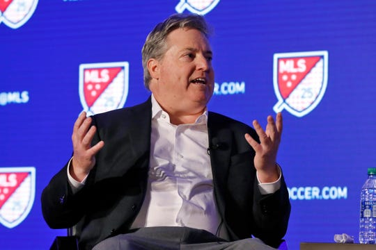 Los Angeles FC lead owner Larry Berg predicts Major League Soccer will surpass Major League Baseball in popularity during the next 10 years.