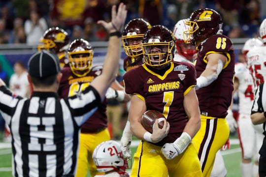 Central Michigan played in Ford Field last season, losing to Miami of Ohio in the MAC championship game.