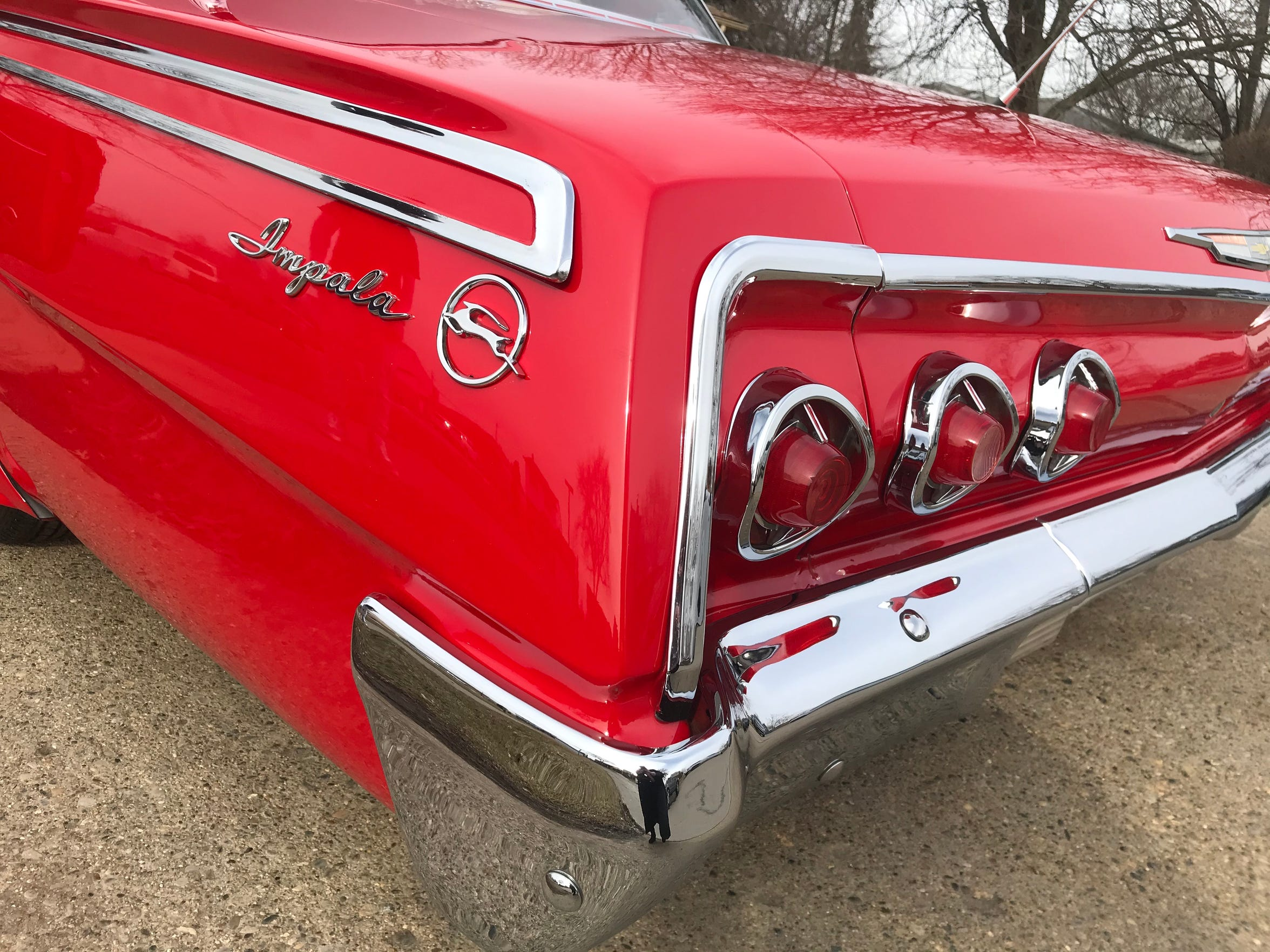 The recognizable back end and taillights of Ferras Sabo's 1962 Chevrolet Impala low rider.