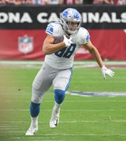 Lions rookie tight end T.J. Hockenson finished the 2019 season having caught 32 passes for 367 yards and two touchdowns in 12 games.