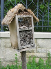 Insect hotels -- filled with acorns, pine cones, bits of moss and other natural materials -- have a jaunty charm and encourage insects to make their home in your garden.