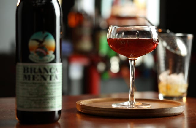 Brancamenta combines with rye in a Black Branca, a quirky but simple variation on the modern classic Black Manhattan.