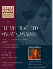 """Susan Hall-Dotson is the featured speaker during Thursday's """"The Multifaceted Madam CJ Walker"""" program at the Evansville African American Museum."""
