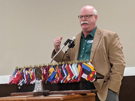 Sandusky County Republican Commissioner candidate John Havens speaks at a Kiwanis candidate forum about his time as a Jackson Township Trustee.