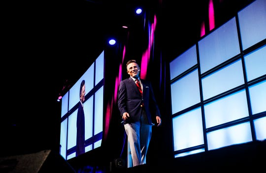Stan Stouder, founding partner of CRE Consultants speaks at Marketwatch 2020 at Hertz Arena in Estero on Tuesday Feb. 25, 2020.  He was one of three keynote speakers. He spoke on commercial real estate trends.