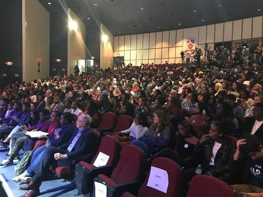 A look at the Martin Luther King Jr. Auditorium at South Carolina State University before musician John Legend is set to speak at an Elizabeth Warren event on Wednesday, Feb. 26, 2020.