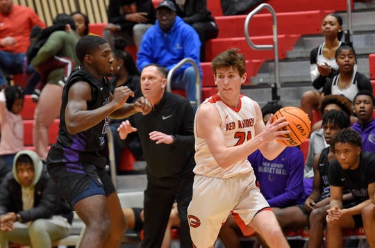 Greenville hosted Ridge View in the third round of the Class AAA basketball playoffs Tuesday, Feb. 25, 2020