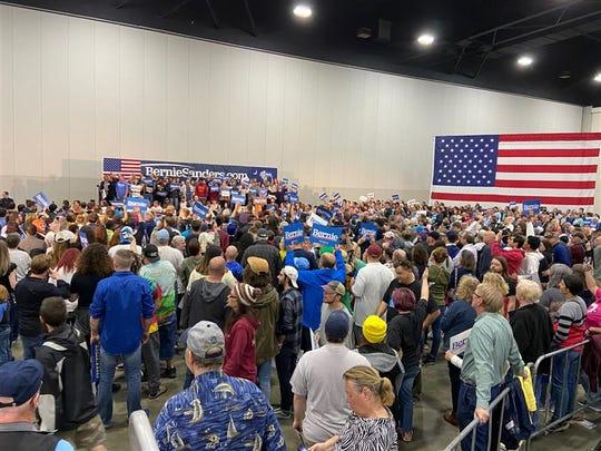 Bernie Sanders visits Myrtle Beach after rally in Charleston, Wednesday, Feb. 26, 2020.