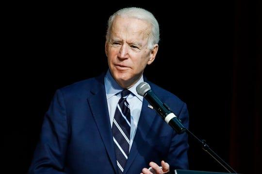 Democratic presidential candidate former Vice President Joe Biden speaks at the National Action Network South Carolina Ministers' Breakfast, Wednesday, Feb. 26, 2020, in North Charleston, S.C. (AP Photo/Matt Rourke)