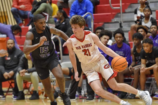 Ridge View at Greenville in the third round of the Class AAAA boys basketball playoffs Tuesday, Feb. 25, 2020.