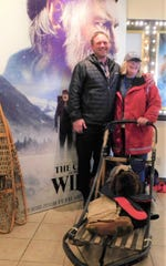 "Sean Hard and Pam Beckstrom pose during the Feb. 22 celebration of ""The Call of the Wild"" in Whitefish.  Sean was the lead sled builder for the movie's sleds."