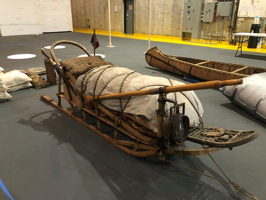 "This is one of the Adanac sleds made for the film ""Call of the Wild."""