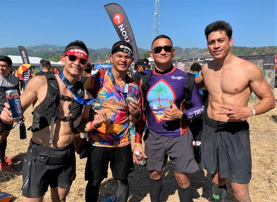 Four obstacle course racers represented Guam at the recent Spartan Race in Pampanga, Philippines. They are from left, BIlly Navarrete, James Sardea, Jeffrey Rios and Patrick Camacho.