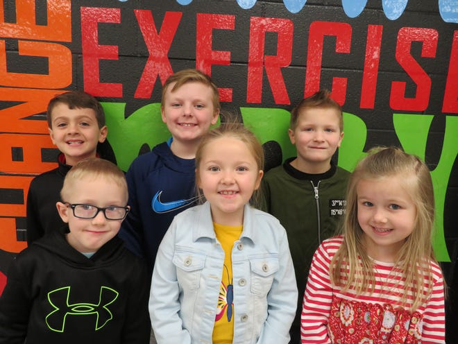 Niagara Elementary's February 2020 Primary Leaders of the Month are, in back from left: Aiden Mayfield, Dax Davis and Mason Payne. In front from left: Braylan Burris, Macie Griffin and Harper Kietzman.