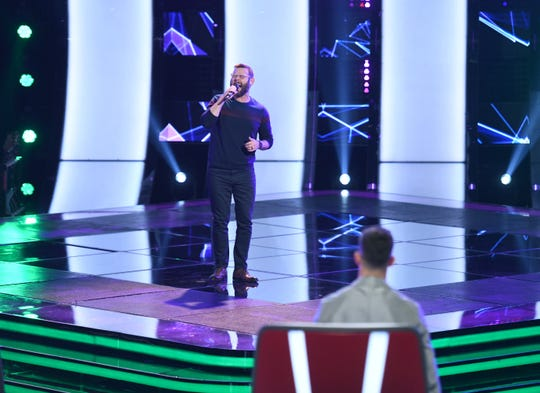 """Todd Tilghman performs on """"The Voice."""""""