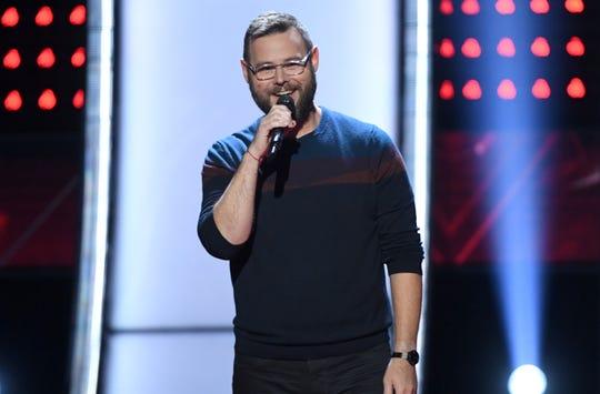 "Todd Tilghman performs on ""The Voice"" on NBC."