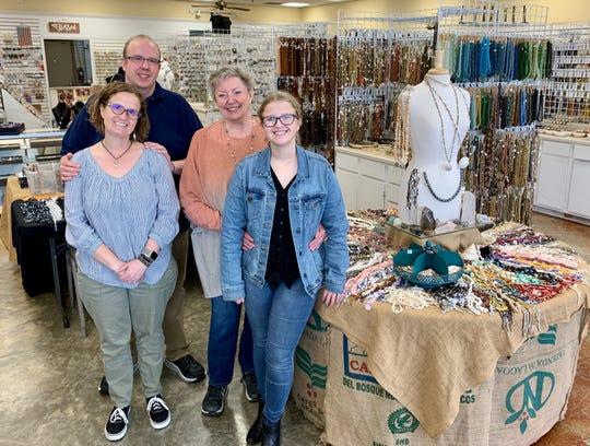 Jim Bankston and his wife, Crawford Bankston; his mother, Ann Bankston; and his daughter, Daise Bankston, are all part of Village Beads in Ridgeland.