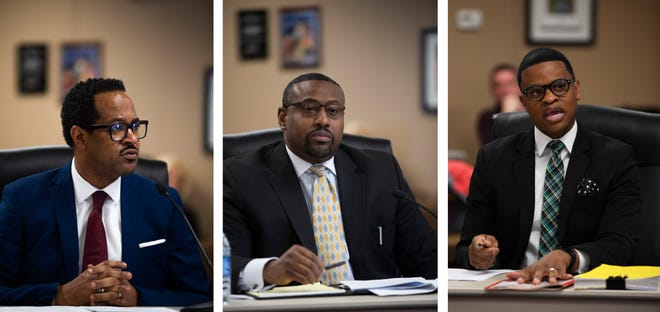 The three finalists for superintendent of the Jackson-Madison County School System are Roderick Richmond, Ron Woodard and Marlon King.