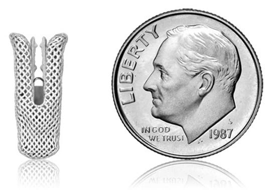 The size of the MitraClip™ is no bigger than a dime.