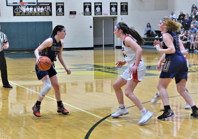Bloom-Carroll senior guard Makenzee Mason scored her 1,000th career point during the Bulldogs' 30-21 tournament loss against Jonathan Alder Tuesday night.