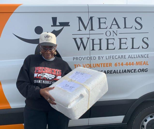Tara Dyer is a Retired Senior Volunteer Program (RSVP) volunteer, delivering meals to the homebound through Meals on Wheels program.