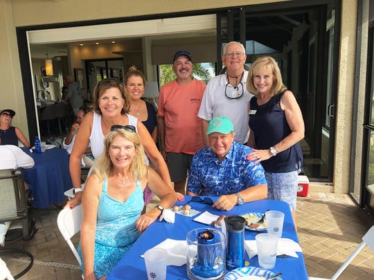 From left, front: Judy and Dan Lange; back: Lisa Raymer, Susan and Michael Taylor, John and Pat Marsh.