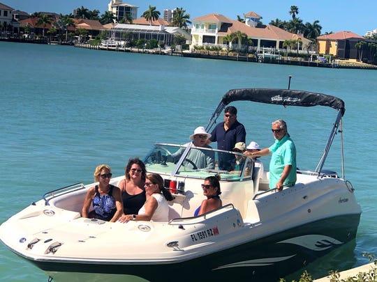 From left, front: Michele Senda, Nicole Klemm, Cindy McKeown, Joy Masi Malena; back: Sean McKeown, Frank Catalano and Frank Malena.