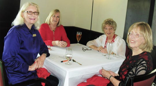 """The Marco Island Woman's Club held their annual """"Cards & Games Social"""" on Feb. 13 at the Marco Island Yacht Club. From left, Joyce Martindell, Arleen Soldano, Priscilla Penn and Dorothy Harkness"""