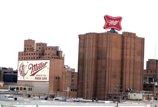 Overall view of Miller Brewing plant in Milwaukee where police responded  to a fatal mass shooting at Molson Coors.
