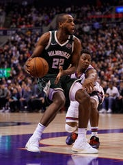 Khris Middleton is in the midst of the best season of his career, averaging 21.1 points, 6.3 rebounds and 4.2 assists per game.