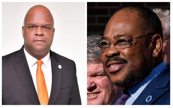 KK Middleton, left, and Dan Harris are vying for the Democratic nomination to Montgomery County Commission