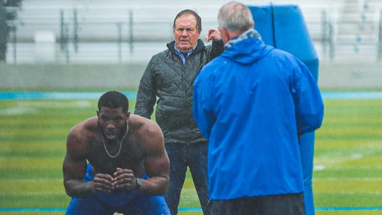 New England Patriots coach Bill Belichick was in town to watch MTSU's Tyshun Render workout over the weekend.