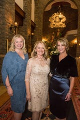 Ballet Ball co-chair Allison Cotton, honorary chair Suann Davis and co-chair Emily Humphreys at the Ballet Ball Patrons Party at the home of Sylvia Roberts.
