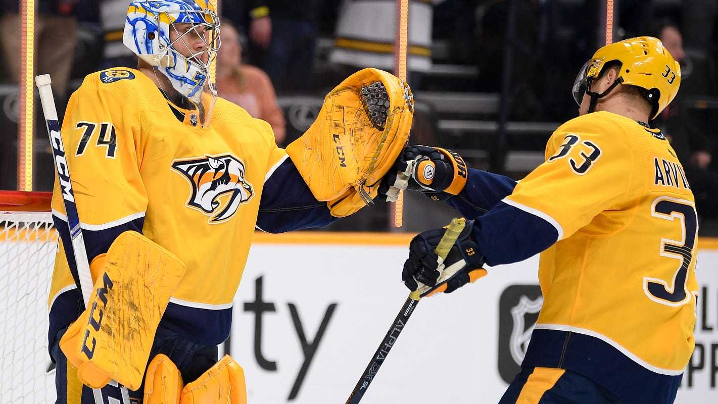 Predators back in playoff position for first time since November