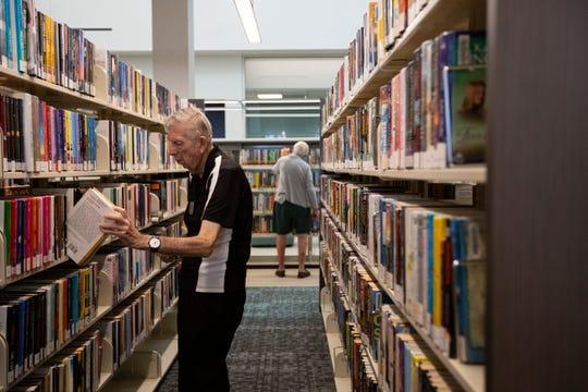 A reader at the Bonita Springs Library.