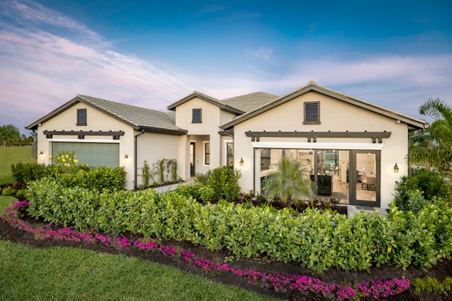 Abaco Pointe, Toll Brothers' newest community of attached villas, is offering several homes that will be move-in ready this spring.