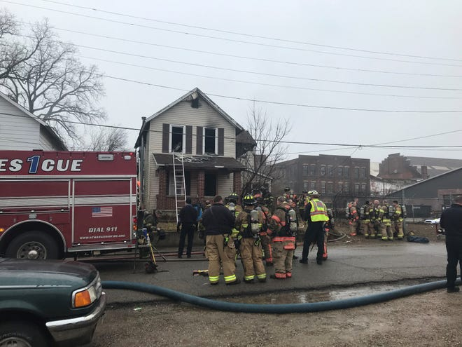 Newark Division of Fire responded to an apparent vacant house fire on Essex Street on Wednesday, Feb. 26, 2020, where an adult male was taken to a Columbus hospital for burns. This fire marks the 20th structure fire Newark Division of Fire has responded to this year.