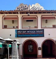 The beloved Plaza Theatre has been sadly shuttered since the Palm Springs Follies closed in 2014.