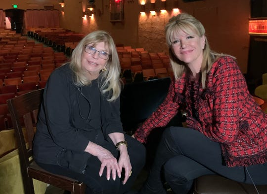 Sandie Newton from NBCares meets with Nancy Sinatra at the Plaza Theatre.