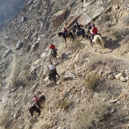 Today's desert riders still brave the nearly vertical cliffs on narrow trails used for millennia by the Agua Caliente tribe.