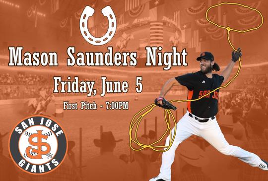 Mason Saunders is the rodeo alias of Arizona Diamondbacks pitcher Madison Bumgarner.