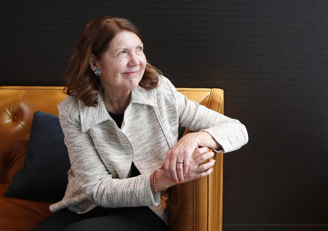 Rep. Ann Kirkpatrick, D-Ariz., talks about a recent fall and seeking treatment for alcoholism during an interview at The Arizona Republic in Phoenix on Feb. 21, 2020.