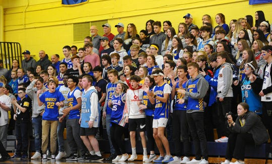 The Northern Lebanon student section was behind their team through out the whole game.