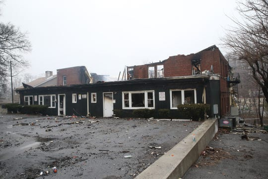 Damage from Tuesday's fire on Market street on February 26, 2020.