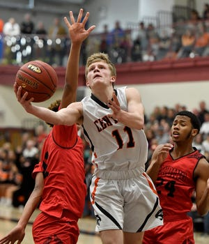 Central York's Nolan Hubbs, seen here in a file photo, had 18 points, 10 rebounds and seven assists on Wednesday in the Panthers' victory vs. Spring Grove.