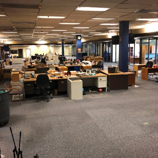 The last day in the Reno Gazette Journal building, Feb. 26, 2020.