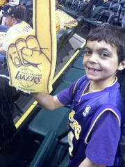 Kobe Brown at a Los Angeles Lakers game in Indianapolis on Dec. 15th, 2010.