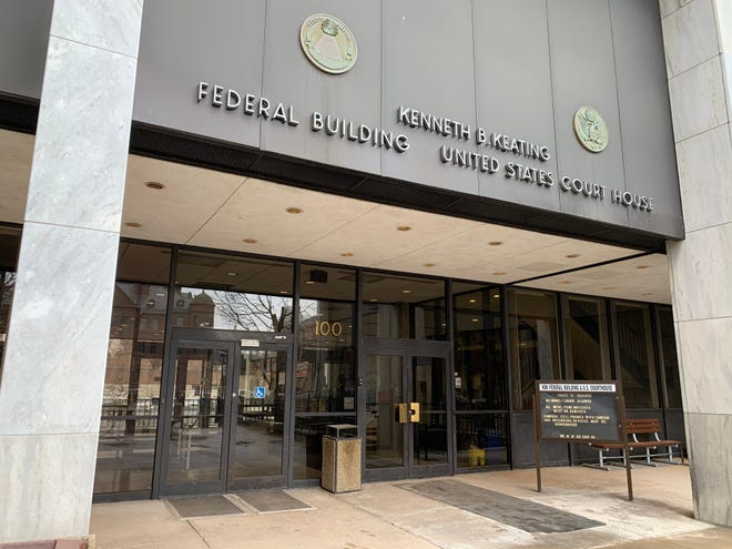 Kenneth B. Keating Federal Building in downtown Rochester.