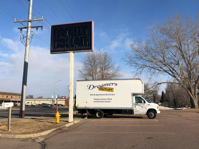 A Dreamers Outlet truck parked outside 518 N. Kiwanis Ave. on Wednesday, Feb. 26, 2020.