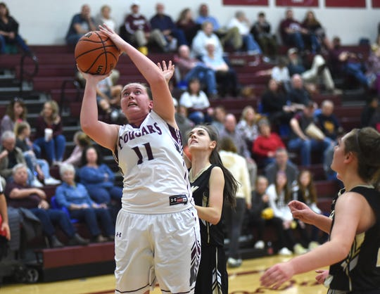 Stuarts Draft's Hadley May puts up a shot Tuesday in a Region 2B quarterfinal game against Buffalo Gap.